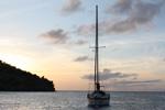 Sonnenuntergang - Yachtcharter Schweden, Mitsegeln