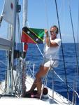 Flagge St. Kitts und Nevis - Yachtcharter Schweden, Mitsegeln Schweden