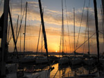Sonnenuntergang Biograd Kornati Marina West - Yachtcharter Schweden, Mitsegeln Schweden