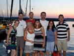 Die Crew in Biograd - Yachtcharter Schweden, Mitsegeln Schweden
