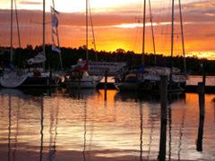 Sonnenuntergang - Yachtcharter Schweden, Mitsegeln, Yachtcharter Göteborg