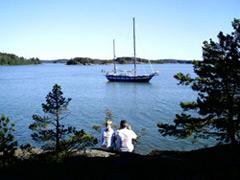 vor Anker - Yachtcharter Schweden, Mitsegeln Schweden, Yachtcharter Göteborg