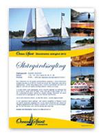 Schweden 2014 - Flyer Segeltörn; Mitsegeln Schweden, Yachtcharter Schweden