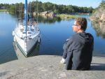 Ostholmen - Abendsonne - Yachtcharter Schweden