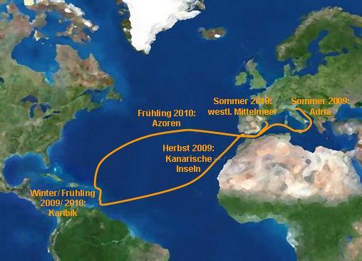 Segelroute SY Ocean Spirit - Yachtcharter Schweden & Mitsegeln