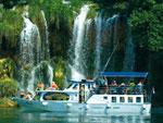 Ausflugsschiff Krka Wasserfälle - Yachtcharter Schweden, Mitsegeln Schweden